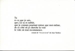 à Tu Et à Toi Texte Prétexte Poème De Jean Tardieu 10
